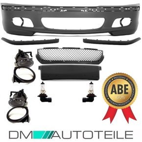 FRONT BUMPER SALOON ESTATE SPORT Fits BMW E46 +FOG LIGHTS...