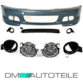 SPORT FRONT BUMPER FITS ON BMW E46 COUPE CONVERTIBLE...