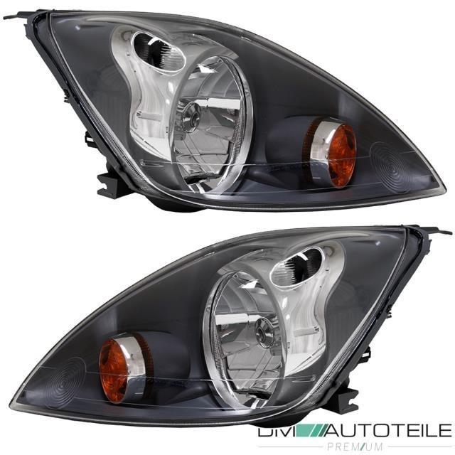 Scheinwerfer Set für Ford Fiesta VI 05-08 in Schwarz Grau H4 links rechts