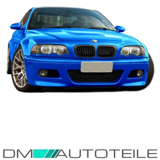 EVO SPORT FRONT BUMPER FIT ON BMW E46 2/3 Doors 99-03+FOG LIGHTS Chrome For M M3