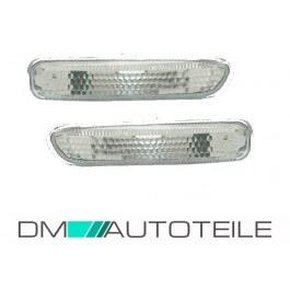 Side Indicators Set White Facelift Design fits on BMW E46...