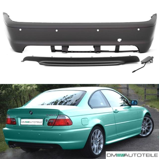 Sport Rear Bumper Pdc 99 07 Fits On Bmw E46 Coupe Convertible W O M Sport M3 M