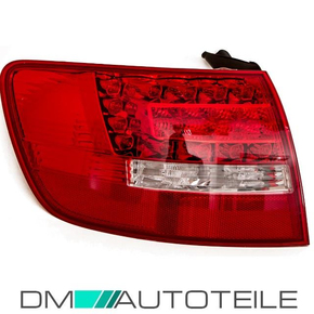 Audi A6 4F2 Avant LED rear lights left red-white outer...