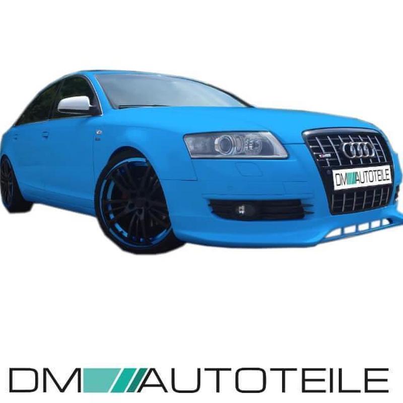Set Audi A6 4F Front left + right wing panels aluminium 04-08 + indicator  holes PREMIUM