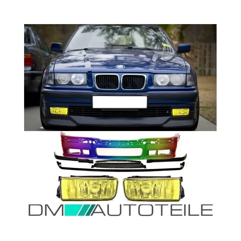 Bmw 3 Series E36 Bumper All Models Accessories For M3 Fog Lights Dtm Look Painted