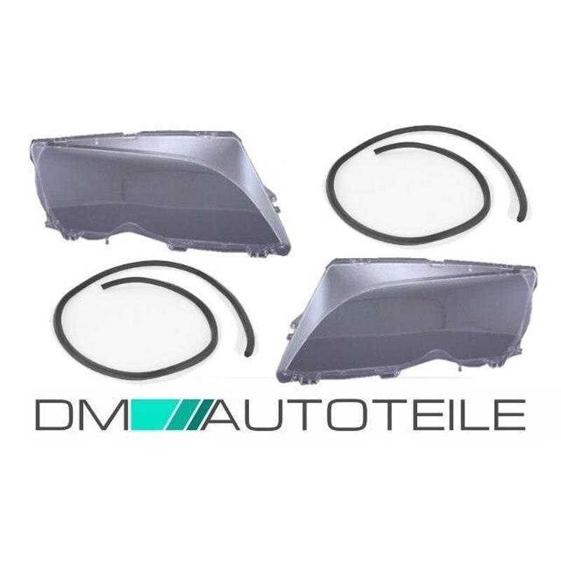 BMW 3 E46 2001-2005 Facelif SALOON SEDAN ESTATE headlight lenses LEFT+RIGHT