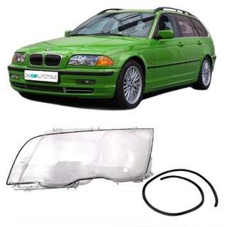 Saloon Estate headlight glass Cover Pre LCI fits on BMW E46 98-01 Left side