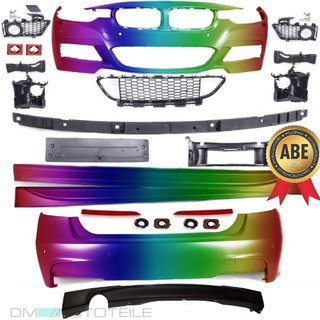 Sport-Bodykit Front Side Skirts back PAINTED suitable for BMW F30 M-Sport Conversion