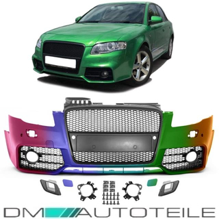 Audi A4 B7 Front Bumper Single Grille Accessories For Rs4 2004