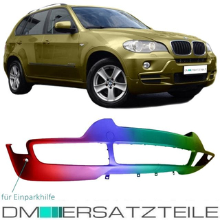 Set BMW X5 E70 Front Bumper lower Part PAINTED for PDC Year 01/2007- 03/2010