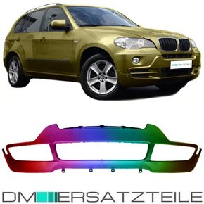 Set BMW X5 E70 Front Bumper lower Part PAINTED for PDC...