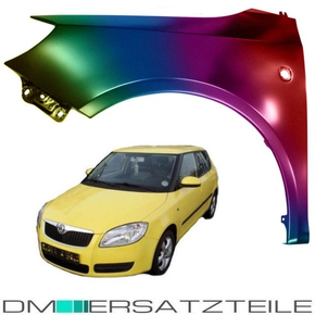 SET Skoda Fabia II Roomster 5J Kotflügel Vorne Links +...