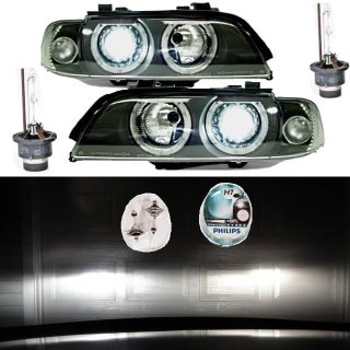 Angel Eyes Scheinwerfer Set D2S Facelift BI Xenon PHILIPS passt für BMW E39 95>
