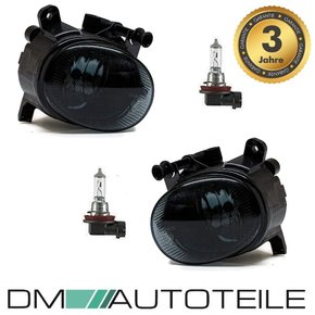 Set Fog Lights Black smoked Clear +H11 Bulbs fits on Audi...