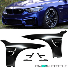 2x Sport Fender Wing Set +Emblem Kit Gloss Black fits for...