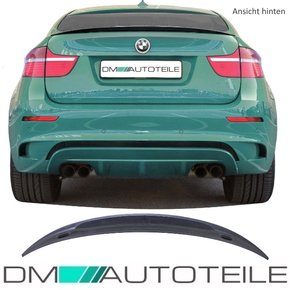 Set Rear Spoiler Lip Lip Black Gloss Black Saphir +3M...