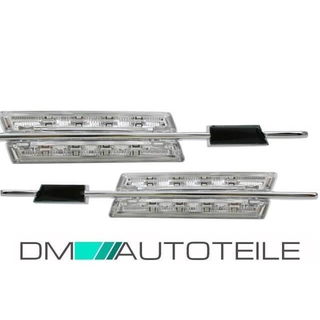 Set LED side indicator chrome fits on all BMW E39 8 LEDS