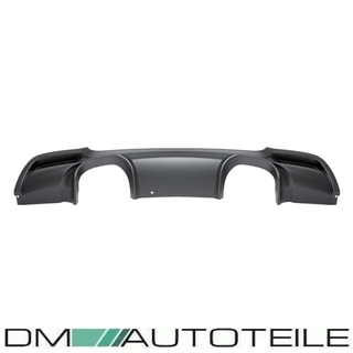 Duplex Rear Diffusor Black Matt fits on BMW 3-Series E92 E93 M-Sport CSL M3 Exhaust System