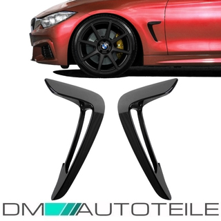 Set Side Vents Wing Fender Black Gloss fits for BMW 4-Series F32 F33 F36 ABS