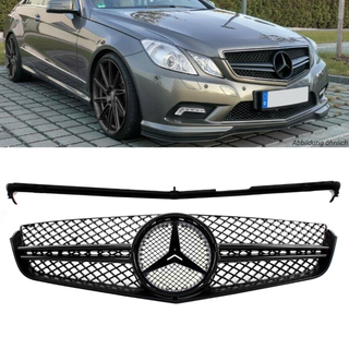Mercedes E-Class Coupe Convertible W207 Front Grille FULL Black Gloss w/o AMG GT