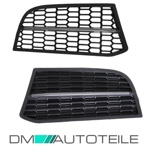 2x Front Grille Set Black Fog Lights Cover fits on BMW...