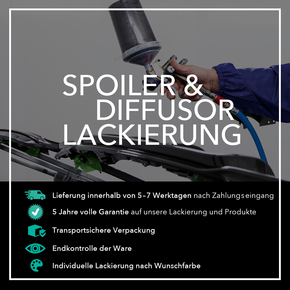 Lackierung eines Spoilers & Diffusors in Wunschfarbe