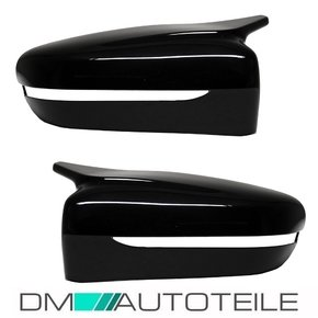 Set Side Cover Wing Mirror Black Gloss fits on BMW G30...