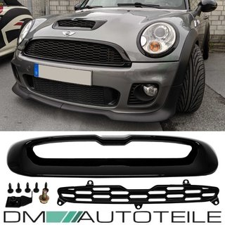 Black Gloss Bonnet Scoop Air Inlet Trim MK2 MINI Cooper S/SD R55 R56 R57 R58 R59
