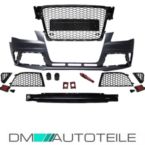 Sport Front Bumper + Honeycomb Grille Black Gloss fits...