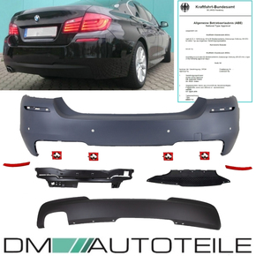 Rear Bumper + Diffusor 520-530 fits on BMW 5-Series F10...