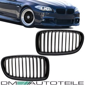 Set Front Kidney Grille Black Matt fits on BMW F10 F11...