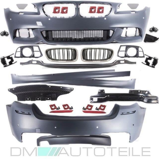 LCI Body Kit Bumper incl  Grille + accessories fits on BMW 5-series F10  Standard or M-Sport 2010-2017