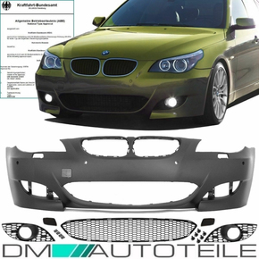 Set BMW E60 E61 LCI Front Bumper black for park assist /...