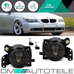 Set Fog Lights Lamps Black Smoke Hb4 fits on BMW E60 E61...