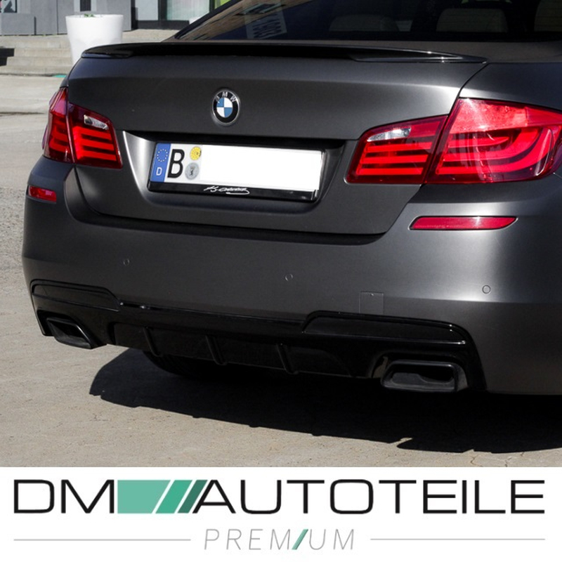 My Kia Performance >> Rear Diffusor Black PERFORMANCE fits on BMW F10 F11 M-Sport Duplex Ov, 85,00