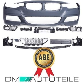 complete Sport Front Bumper w/o PDC fits on BMW F30 F31...