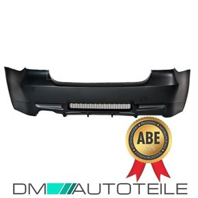 Sport Rear Bumper Black + Diffuser fits on BMW 3-Series...