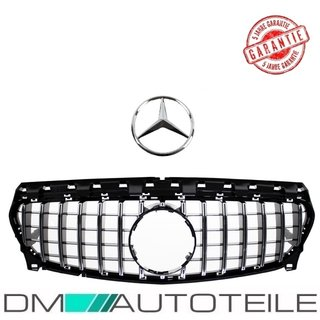 Mercedes CLA W117 Front Grille Kidney Chrome Black fits for AMG GT Modification up 2017 (Mopf)
