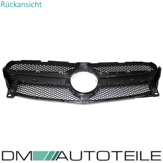 Kidney Honeycomb Front Grille Black Gloss +Star painted fits on Mercedes GLA X156 13-16 w/o AMG 45
