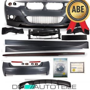 FULL Bodykit Sport Bumper +Splitter+Site fits on BMW F30...
