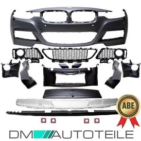 Sport Front Bumper primed PDC fits on BMW F30 F31 Series...