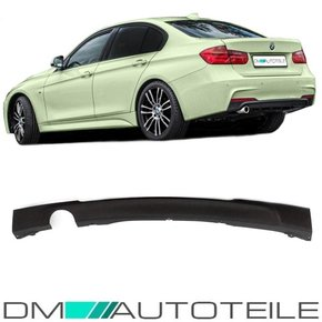 Rear Diffusor Bumper Black Matt fits on BMW 3-Series F30...