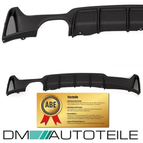 PERFORMANCE Rear Diffusor Black Matt Bumper fits on BMW...