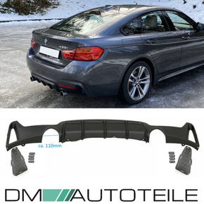 Rear Diffusor Black Matt 435i fits on BMW F32 F33 F36...