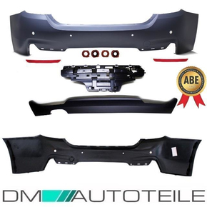 Sport Rear Bumper primed+Diffusor fits on BMW 4-Series...