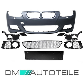 Sport Front Bumper primed w/o Park assist  with  Washers...