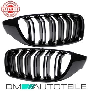 Set Kidney Front Grille Dual Slat Black Gloss fits on BMW...