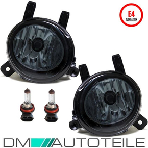 Set Fog lights smoke Black+H8 Bulbs also for M-Sport fits...