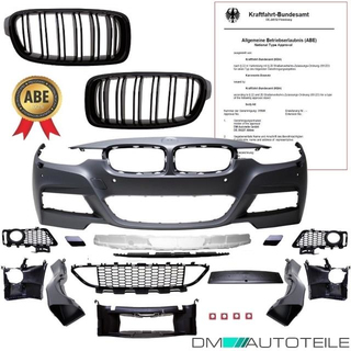 Bmw F30 F31 M Sport Front Bumper With Park Assist Headlamp Washer