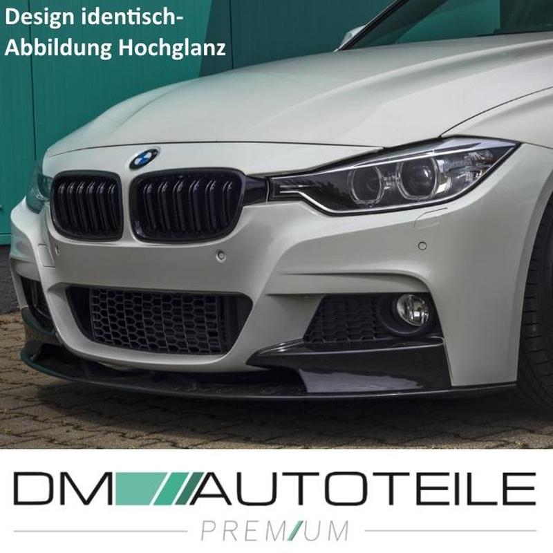 GRILL GRILLE KÜHLERGRILL SET für BMW F30 F31 3er LIMOUSINE TOURING SCHWARZ MATT